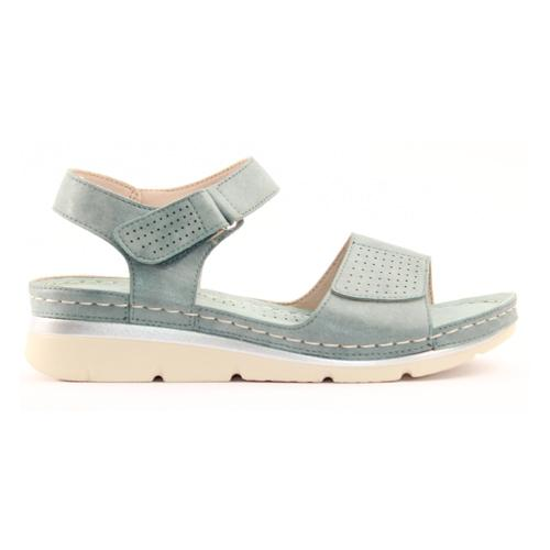 Zanni Ladies Wedge Sandal - Thaj - Blue