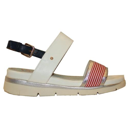 Zanni Ladies Wedge Sandal - Terqa- White