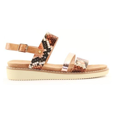 Zanni Ladies Wedge Sandal - Kabnak - Tan