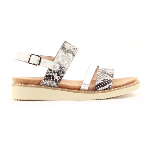 Zanni Ladies Wedge Sandal - Kabnak - White