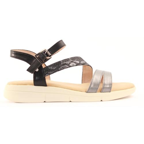 Zanni Ladies Wedge Sandal - Girsu - Black