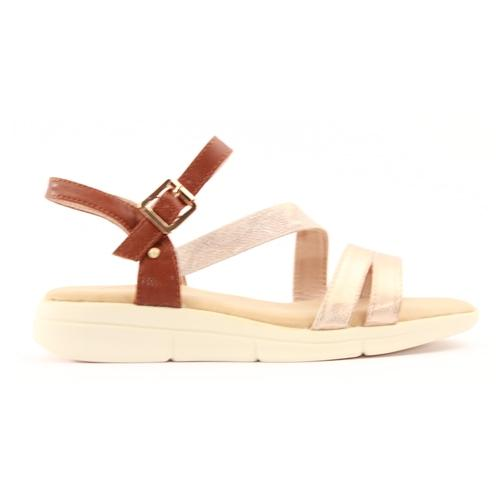 Zanni Ladies Wedge Sandal - Girsu - Rose Gold