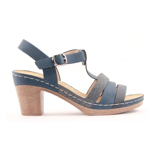 Zanni Ladies Wedge Sandal - Shizaz - Blue