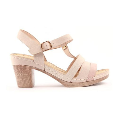 Zanni Ladies Heeled Sandal - Shiraz - Pink
