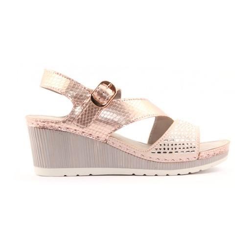 Zanni Ladies Wedge Sandal - Zenobia - Rose Gold