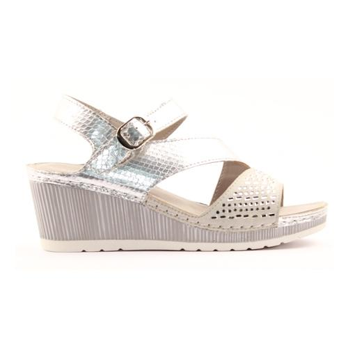 Zanni Ladies Wedge Sandal - Zenobia - Silver