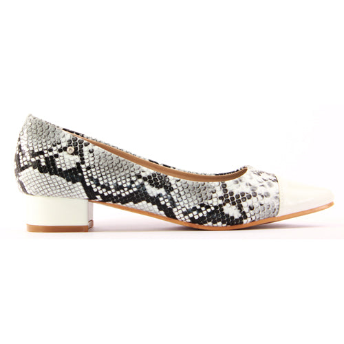 Zanni Ladies Dressy Court Shoe - Rehou - White
