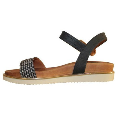 Escape Wedge Sandal - Greenville- Navy