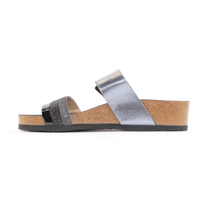 Ara Wedge Sliders  - 17280 - Pewter