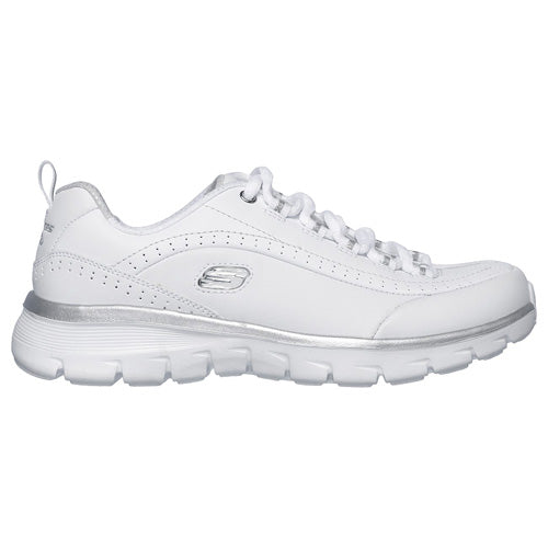 Skechers Ladies Trainers - 13260 - White/Silver