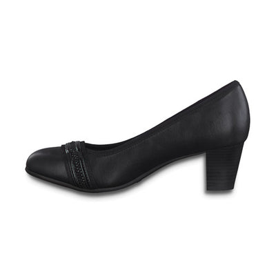 Jana Block Heels - 22477-25 - Black