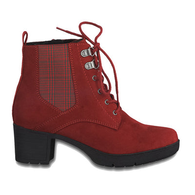 Jana Block Ankle Boots - 25269-25 - Red