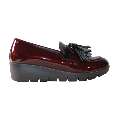 Redz Wedge Loafers - 61102 - Burgundy