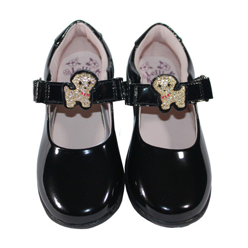 Lelli Kelly Girls Strap Shoes - Poppy Puppy 8317 - Black Patent