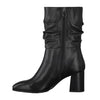 Tamaris Leather Midi Boots- 25345-25 - Black