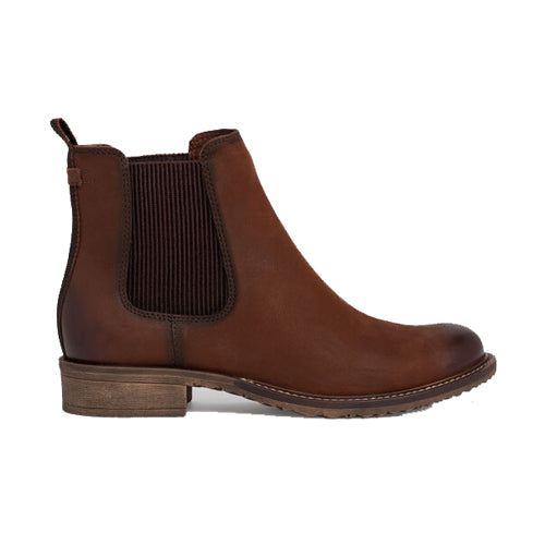 Tamaris Leather Chelsea Boots - 25422-25 - Brown