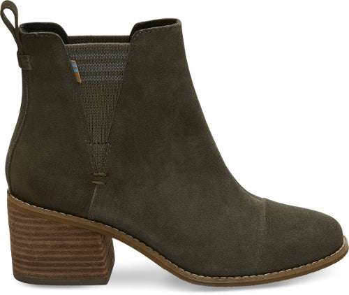 Toms Ankle Boot  - Esme - Green - Block Heel Chelsea