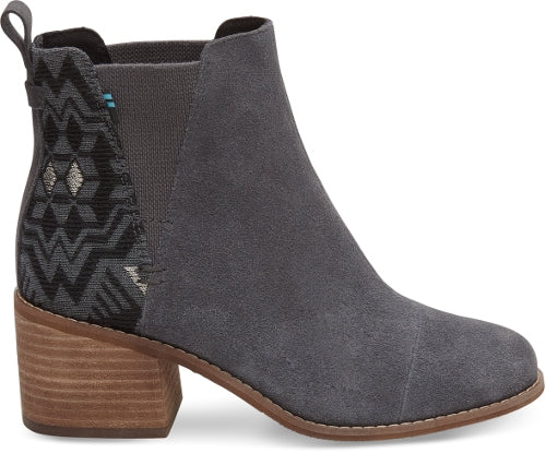 Toms - Esme - Grey - Block Heel Chelsea Boot