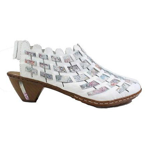 Rieker Sling Back Shoes - 46778-80 - White
