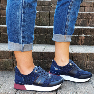 Tommy Bowe Ladies Trainers - Keohane - Navy