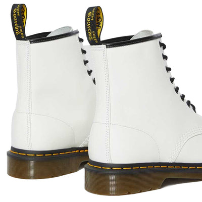 Dr Martens - 1460  8 Eye Boots - White Smooth Leather