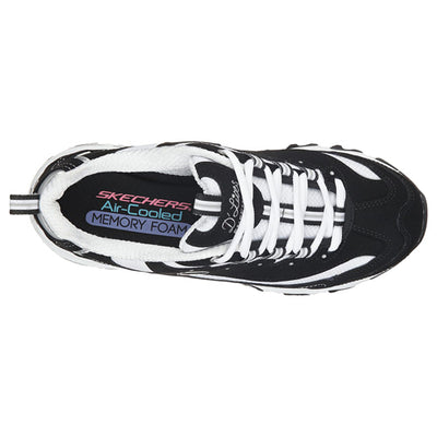 Skechers D'Lite Trainer - 11930 - Black/White
