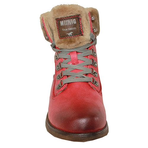 Mustang - 1295601 - Red - Fur Lined Ankle Boot