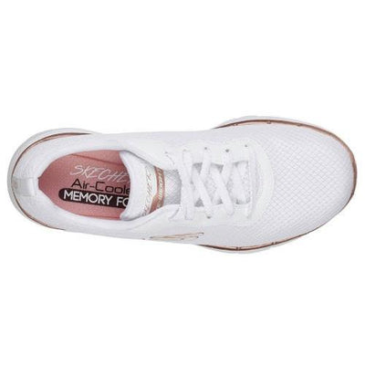 Skechers Trainers  - 13070 - White/Rose Gold