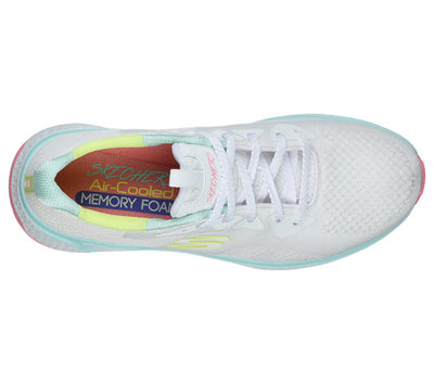 Skechers Ladies Trainers - 13328 - White Multi