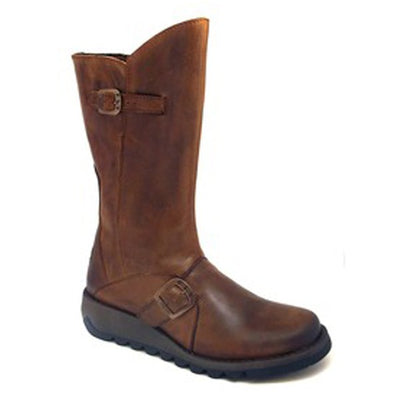 Fly London Mid Calf Boots  - Mes - Tan