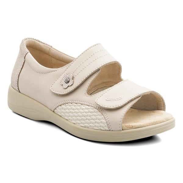 Padders - Grace Wide Fit Sandals - Beige