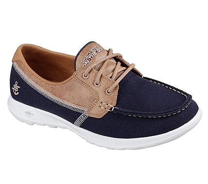 Skechers - 15430 - Navy/ Tan Boat Shoe