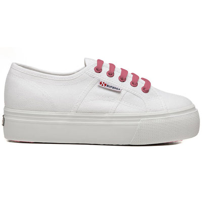 Superga  Trainers - Contrast Platform - White/Pink