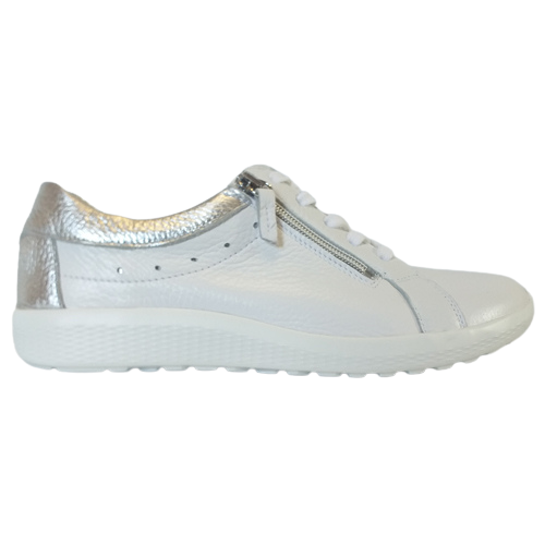 Waldlaufer Ladies Wide Fit Trainer - 687009 - White