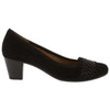 Gabor Dressy Court Shoes - 05.482 - Black Suede