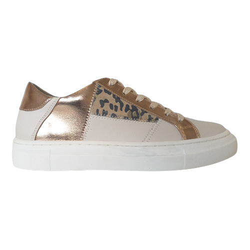 Heavenly Feet Trainers - Valentina - White/Rose Gold