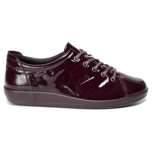 Ecco Walking Shoe - 206503 - Burgundy Patent
