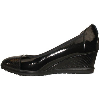 Tamaris Wedge Shoe - 22472-23 - Black Patent