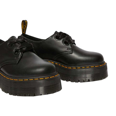Dr Martens Platform Shoes - Holly - Black Leather