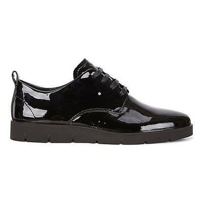 Ecco Lace Up Shoe - 282043 - Black Patent