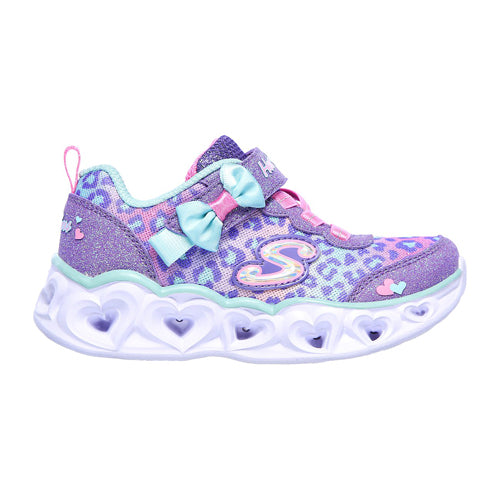 Skechers Kids Trainers - 302088N  Light Up- Purple