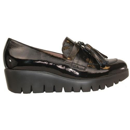Wonders  Wedge Loafers  - 33174 - Black