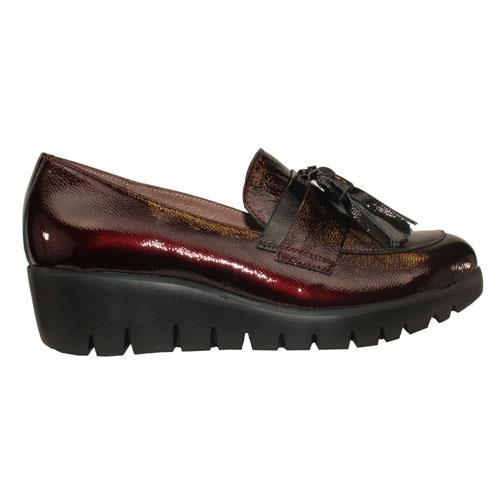 Wonders Wedge Loafers - 33174 - Burgundy