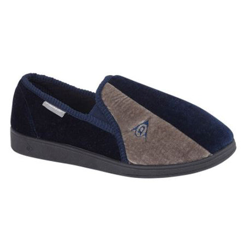 Dunlop Mans Slipper - 417 - Navy/Grey