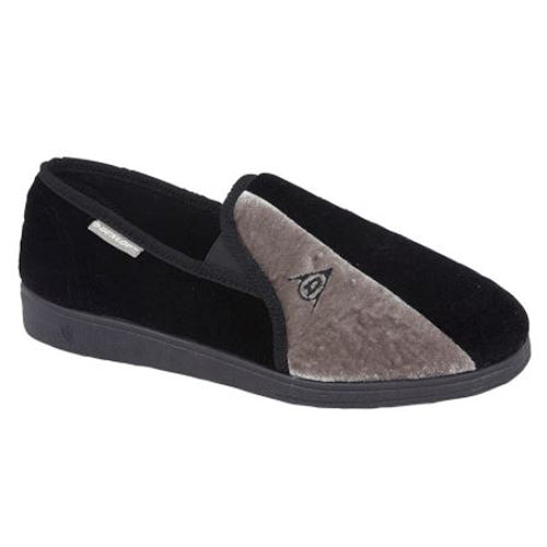 Dunlop Mans Slipper - 417 - Black/Grey