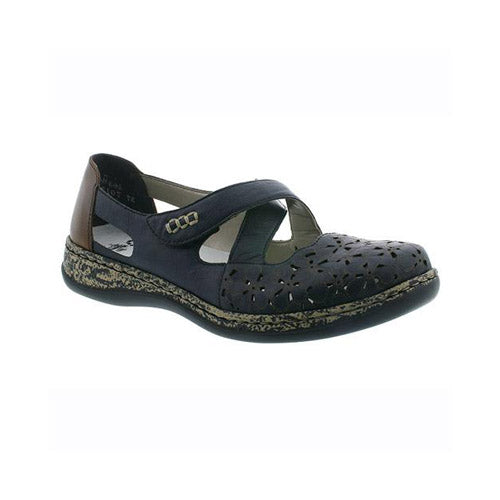Rieker Flat Shoes - 463H414 - Navy