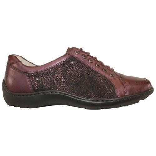 Waldlaufer Wide Fit  Walking Shoes - 496005 - Burgundy