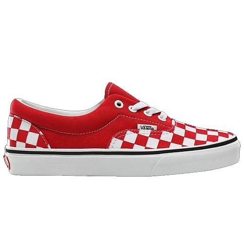 Vans  Classic Skate Shoes - Era   Checkerboard - Red/White