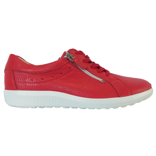 Waldlaufer Ladies Wide Fit Trainer - 687009 - Red