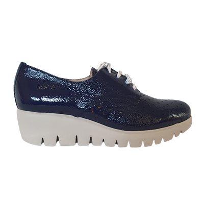 Wonders Wedge Shoes - C-33210 - Navy